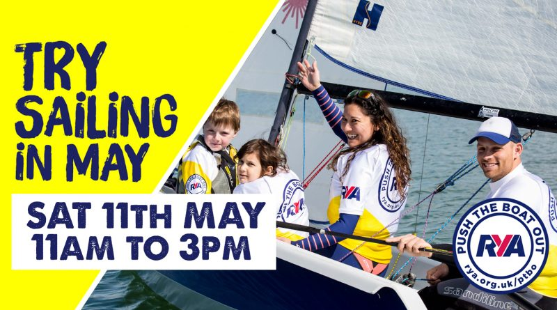 Open Day Sat 11th May – all welcome, try sailing with us
